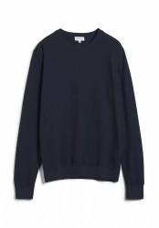 GRAANO COMPACT Strick Pullover Solid / dunkelblau