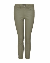 Coated Jeans Emily zip / oliv