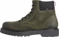 Herren Schnür-Boot SHORT LACE UP TOMMY JEANS BOOT / oliv