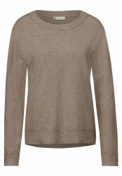 Feinstrickpullover / Taupe